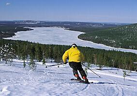 Skiing Finland